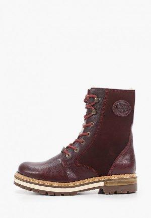 Ботинки Dockers by Gerli 20207мех. Цвет: бордовый