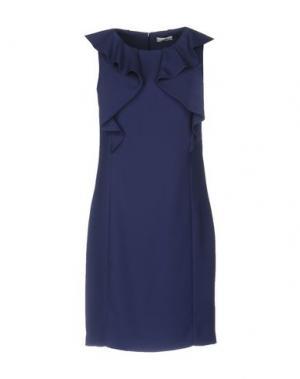 Короткое платье CAPPELLINI by PESERICO. Цвет: грифельно-синий
