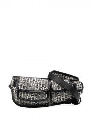 Поясная сумка с логотипом Kenzo. Цвет: серый