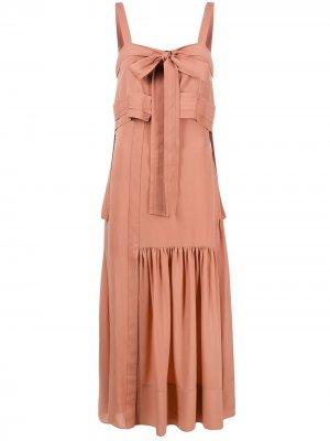 Длинное платье 3.1 Phillip Lim. Цвет: розовый