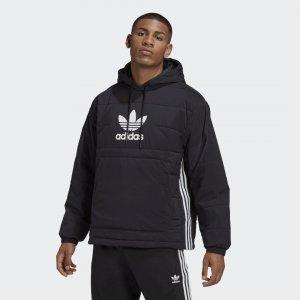 Утепленная куртка-анорак Trefoil Originals adidas. Цвет: черный