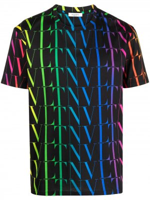 VLTN rainbow-logo print T-shirt Valentino. Цвет: черный