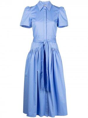 Платье-рубашка Lainly Alexis. Цвет: синий