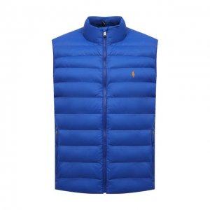 Утепленный жилет Polo Ralph Lauren. Цвет: синий