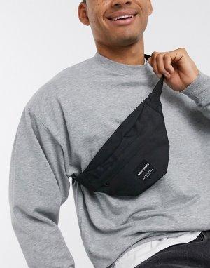 Черная сумка-кошелек на пояс -Черный Jack & Jones