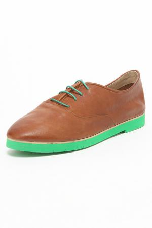Ботинки Ballerina. Цвет: коричневый