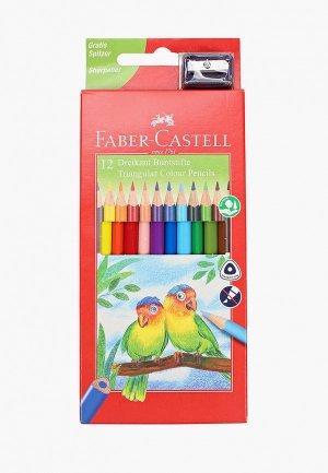 Набор для творчества Faber-Castell цветных Ecopen 12 цветов, трехгранные, с точилкой. Цвет: разноцветный