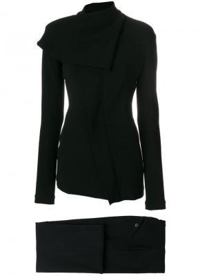 Брючный костюм со смещенной застежкой Jean Paul Gaultier Vintage. Цвет: черный
