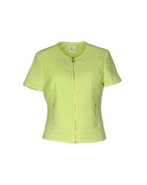 Куртка MAISON ESPIN. Цвет: кислотно-зеленый