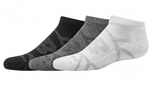 Носки KIDS PERFORMANCE NO SHOW SOCK 3 PAIR New Balance. Цвет: черный и белый