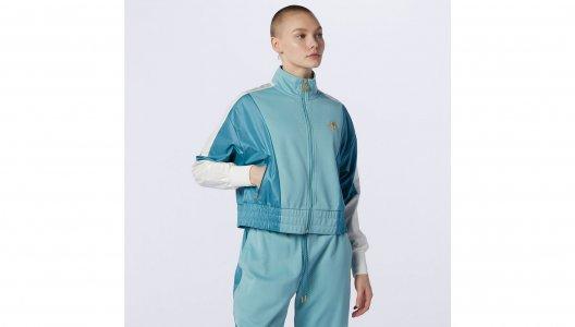 Куртки NB Athletics Higher Learning Track Jacket New Balance. Цвет: зеленый