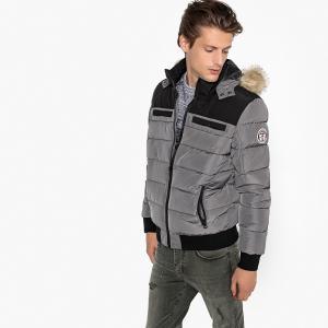 Куртка с капюшоном FOBRE KAPORAL. Цвет: серый,черный