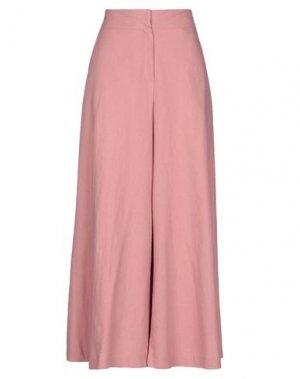 Повседневные брюки BONSUI. Цвет: розовый