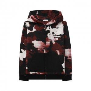 Хлопковая толстовка Dolce & Gabbana. Цвет: красный