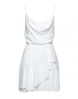 Короткое платье BCBGMAXAZRIA. Цвет: белый