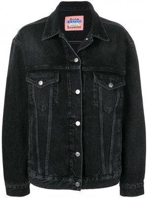 Джинсовая куртка Acne Studios. Цвет: черный