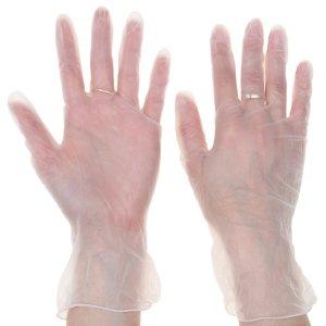 Перчатки хозяйственные виниловые доляна, размер m, 10 шт/уп Доляна