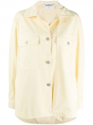 Джинсовая куртка Alberta Ferretti. Цвет: желтый