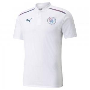 Поло Man City Casuals Mens Football Polo Shirt PUMA. Цвет: белый
