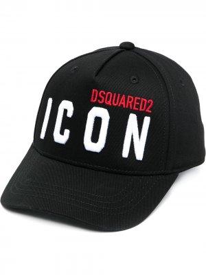 Бейсболка с вышивкой Icon Dsquared2 Kids. Цвет: черный