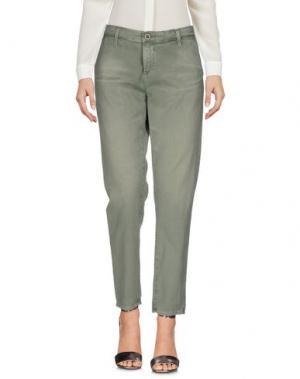 Повседневные брюки AG JEANS. Цвет: зеленый-милитари
