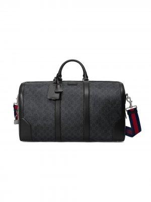 Дорожная сумка с узором GG Supreme Gucci. Цвет: черный