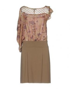 Короткое платье ANNARITA N. Цвет: хаки