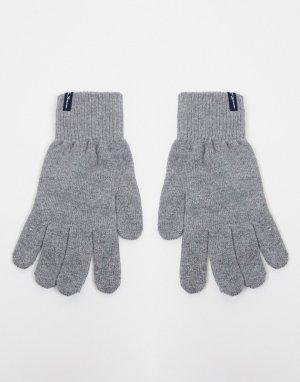 Серые перчатки santos-Серый Ben Sherman