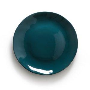 Комплект из 4 плоских тарелок LaRedoute. Цвет: синий