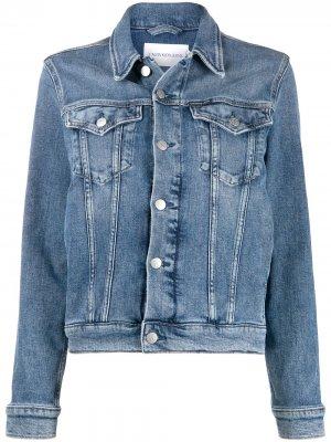Джинсовая куртка Calvin Klein Jeans. Цвет: синий