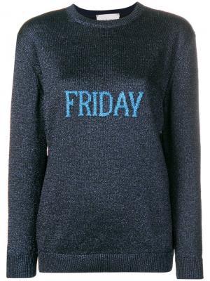 Friday jumper Alberta Ferretti. Цвет: синий
