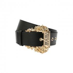 Кожаный ремень Versace Jeans Couture. Цвет: чёрный