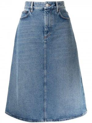 Джинсовая юбка А-силуэта Balenciaga. Цвет: синий