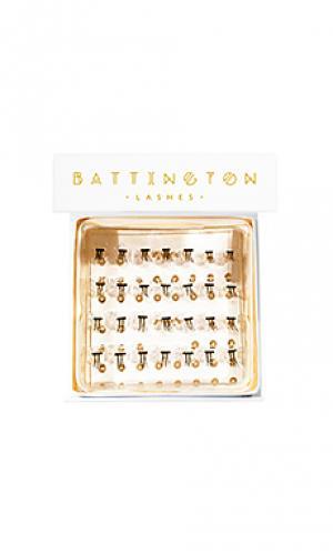 Индивидуальные шелковые накладные ресницы Battington Lashes. Цвет: черный