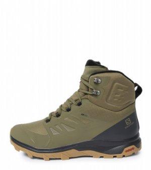 Ботинки утепленные мужские Outblast, размер 44 Salomon. Цвет: зеленый