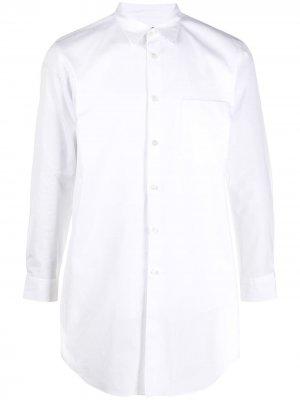 Длинная рубашка Comme Des Garçons Homme Plus. Цвет: белый