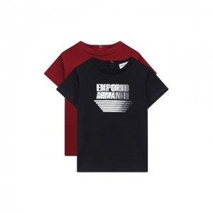 Комплект из двух футболок Emporio Armani. Цвет: красный