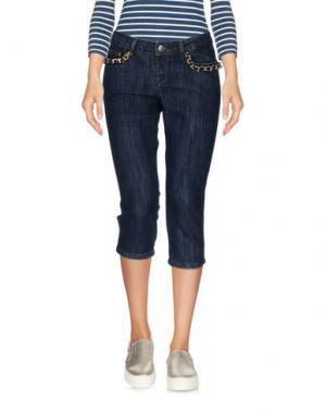Джинсовые брюки-капри HUSKY. Цвет: синий