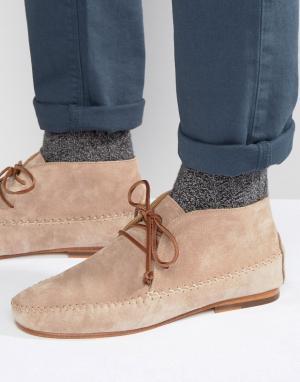Замшевые ботинки Le Marabout Bobbies. Цвет: бежевый