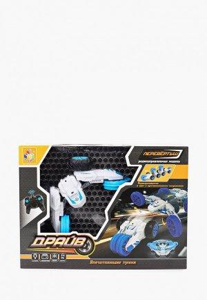 Игрушка радиоуправляемая 1Toy Драйв, трюковая трёхколёсная машина-перевёртыш на р/у. Цвет: белый