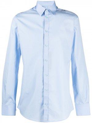 Рубашка с классическим воротником Dolce & Gabbana. Цвет: синий