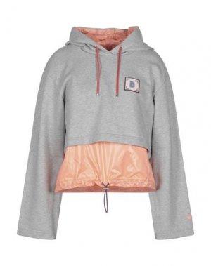 Легкое пальто DUVETICA. Цвет: серый