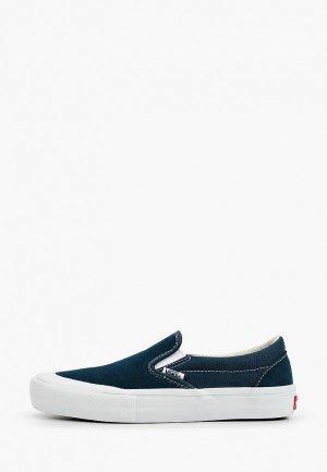 Слипоны Vans MN SLIP-ON PRO. Цвет: бирюзовый