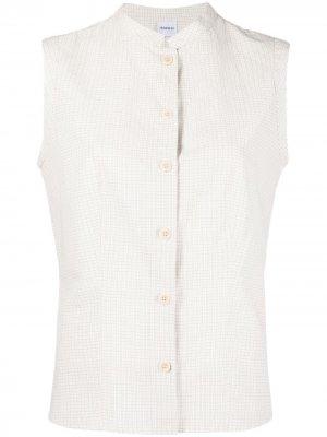 Клетчатая рубашка без рукавов Aspesi. Цвет: нейтральные цвета