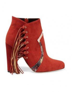 Полусапоги и высокие ботинки BRIAN ATWOOD. Цвет: кирпично-красный