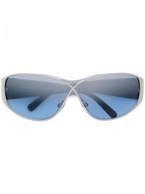Солнцезащитные очки со стеганым эффектом Chanel Pre-Owned. Цвет: черный