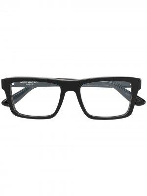 Square-frame glasses Saint Laurent Eyewear. Цвет: черный