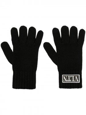Перчатки с нашивкой-логотипом Valentino Garavani. Цвет: черный