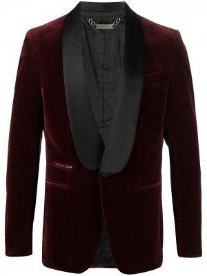 Однобортный пиджак Philipp Plein. Цвет: красный