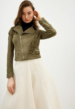 Куртка кожаная Liu Jo White Label. Цвет: хаки